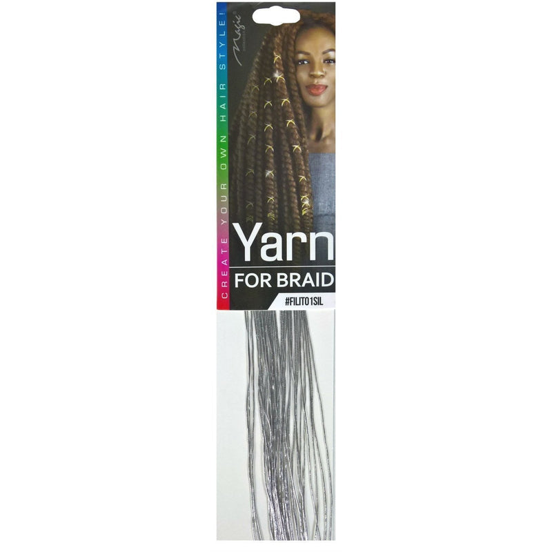 Magic Collection String for Braid, Metallic Silver