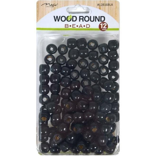 Magic Collection Wood Round Beads #12816BLA