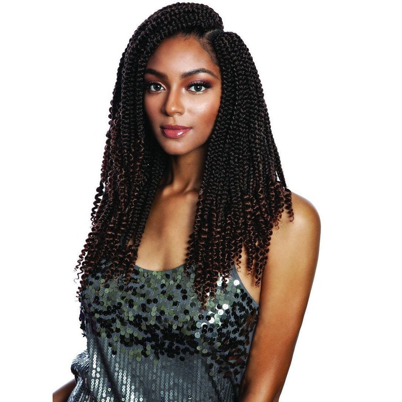 Mane Concept Afri-Naptural Synthetic Braids – 3X Coily Ends Box Braid 14""