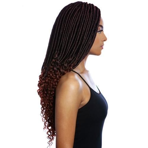 Mane Concept Afri-Naptural Synthetic Braids – 3X Pre-Stretched Bonet Goddess Locs 18""