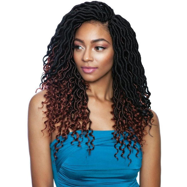 Mane Concept Afri-Naptural Synthetic Braids – 3X Pre-Stretched Wavy Goddess Locs 14""