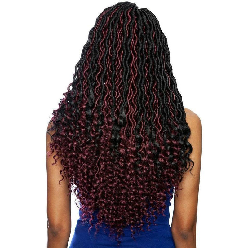 Mane Concept Afri-Naptural Synthetic Braids – 3X Pre-Stretched Wavy Goddess Locs 18""