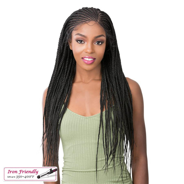 It's A Wig! Synthetic Lace Front Wig - Micro Cornrow Box Braid
