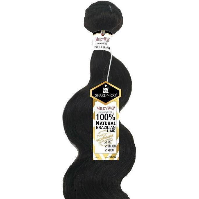 MilkyWay Natural Brazilian 100% Human Hair Weave – Natural