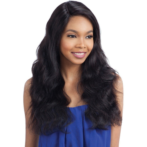 Model Model 100% Human Hair Nude Brazilian Natural L-Part Lace Front Wig –  Natural S Wave