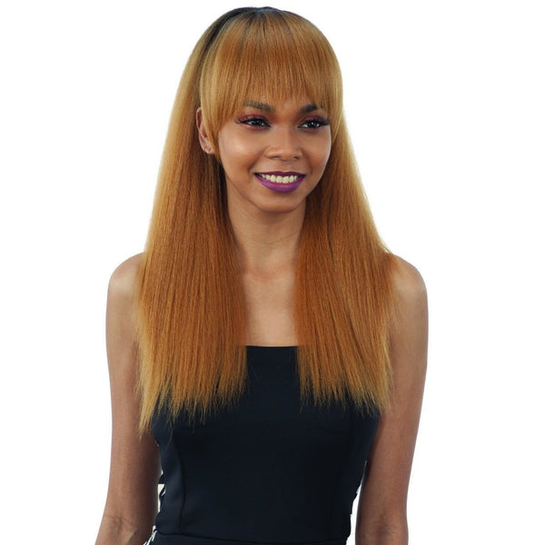 Model Model Synthetic Blunt Bang & Ponytail – Yaky Straight