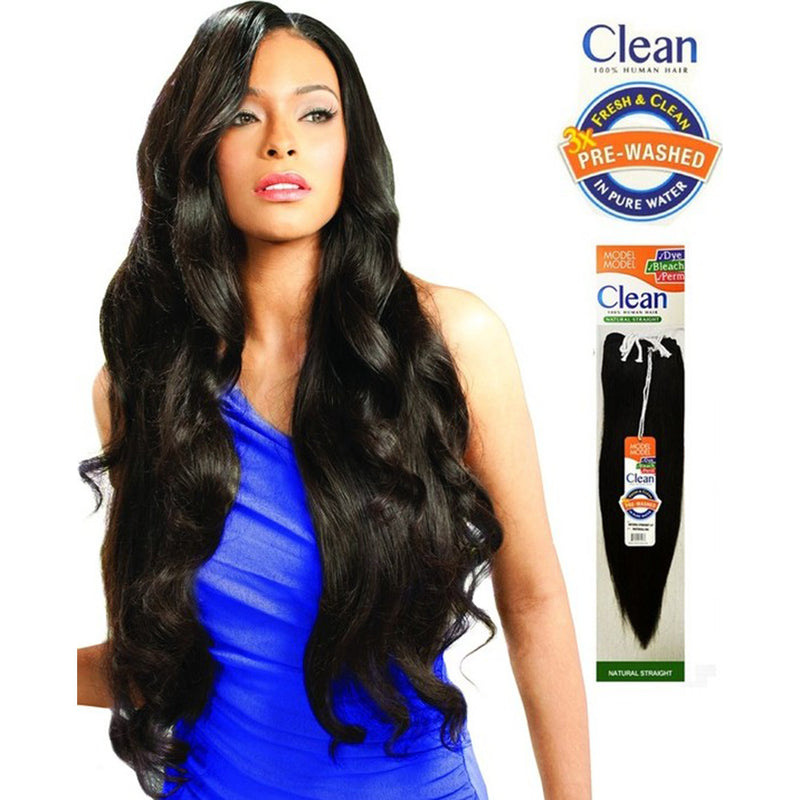 Model Model Clean 100% Human Hair Weave – Natural Straight