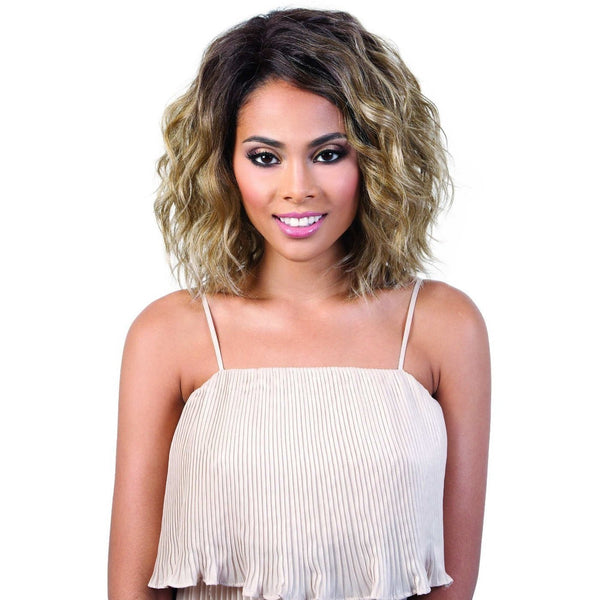 Motown Tress Synthetic Deep Part Swiss Lace Front Wig – LSDP-Fara
