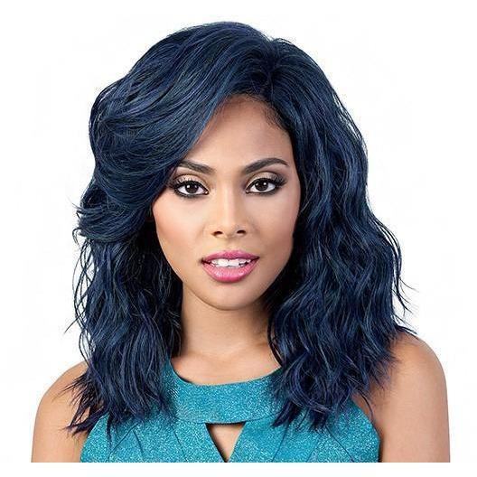 Motown Tress Human Hair Blend Mix Deep Part Lace Front Wig – HBLDP.Fia