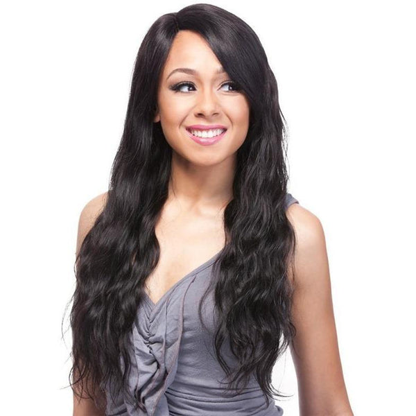 It's A Wig! Salon Human Hair Lace Front Wig – HH Part Lace Natural Wave 24""