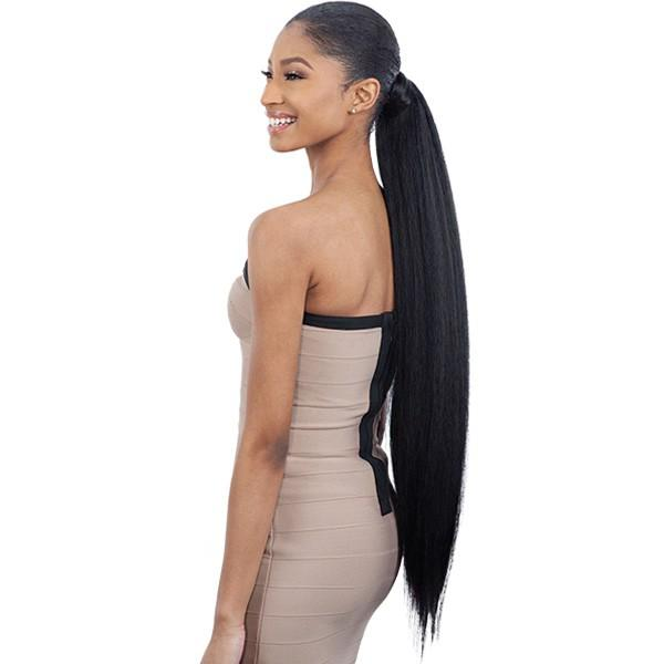 Shake-N-Go Organique MasterMix Wrap-Around Synthetic Ponytail – Natural Yaky 32""