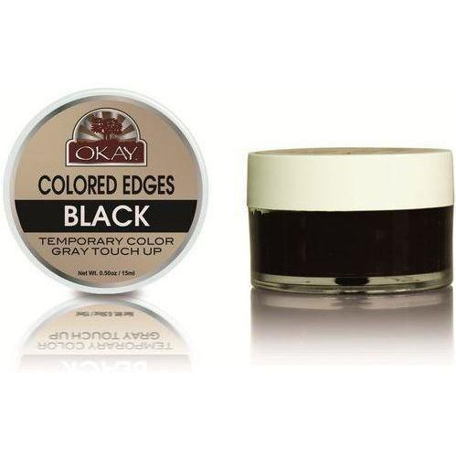 OKAY Colored Edges Temporary Color Gray Touch Up .5 oz Black