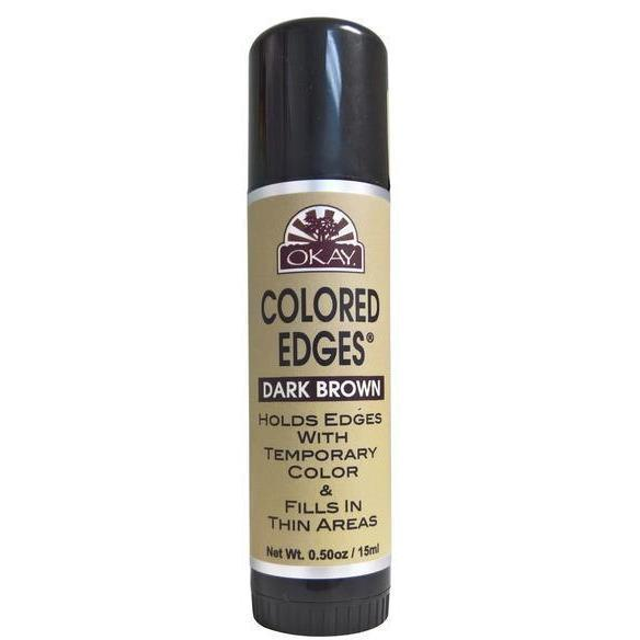 OKAY Colored Edges Temporary Color Stick 0.5 OZ, Dark Brown