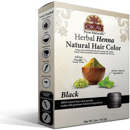 Okay Herbal Henna Natural Hair Color – Black 2 OZ