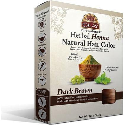 Okay Herbal Henna Natural Hair Color – Dark Brown 2 OZ