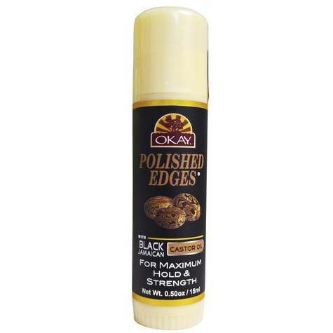 OKAY Polished Edges With Black Jamaican Castor Oil 0.5 OZ