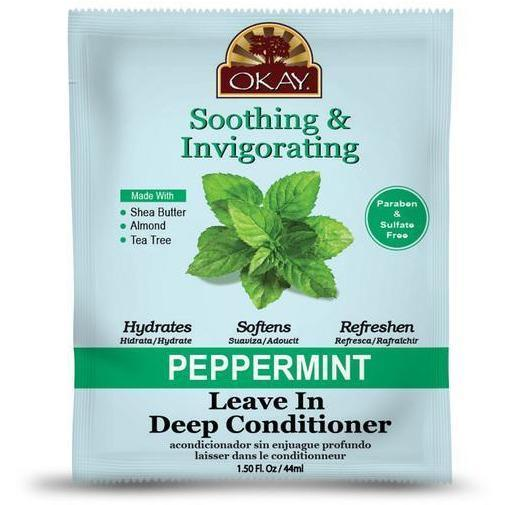 OKAY Soothing & Invigorating Peppermint Leave In Deep Conditioner 1.5 OZ