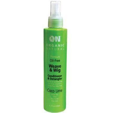 Organic Natural Wig & Weave Conditioner & Detangler Coco Lime 8 OZ
