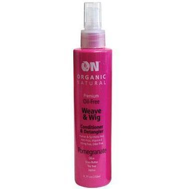 Organic Natural Wig & Weave Conditioner & Detangler Pomegranate 8 OZ