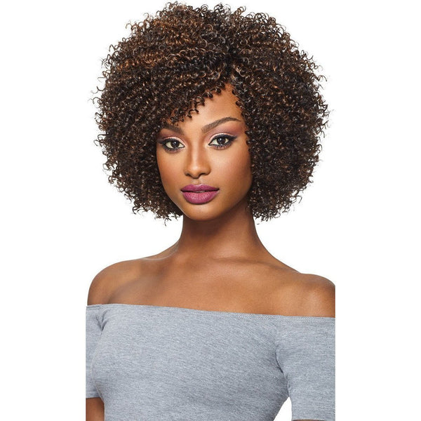 Outre Big Beautiful Hair Purple Pack Human Hair Blend Weave – 4a-Kinky 3PCS
