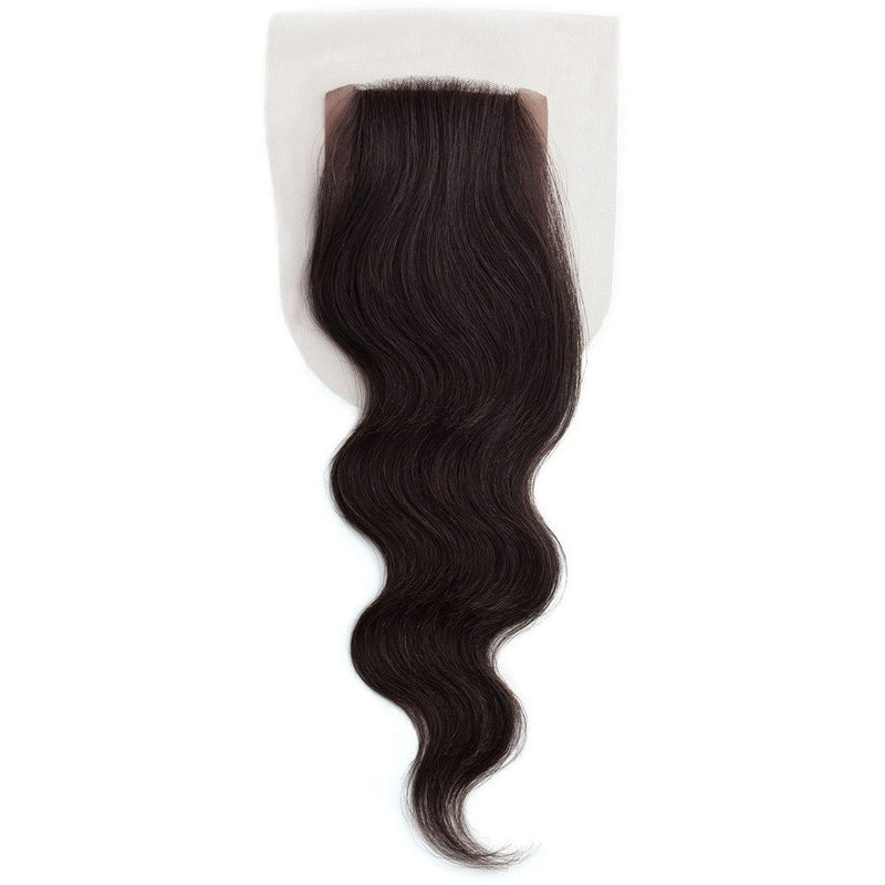 Outre Simply Non-Processed Human Hair Weave – Silk Lace Closure 12""