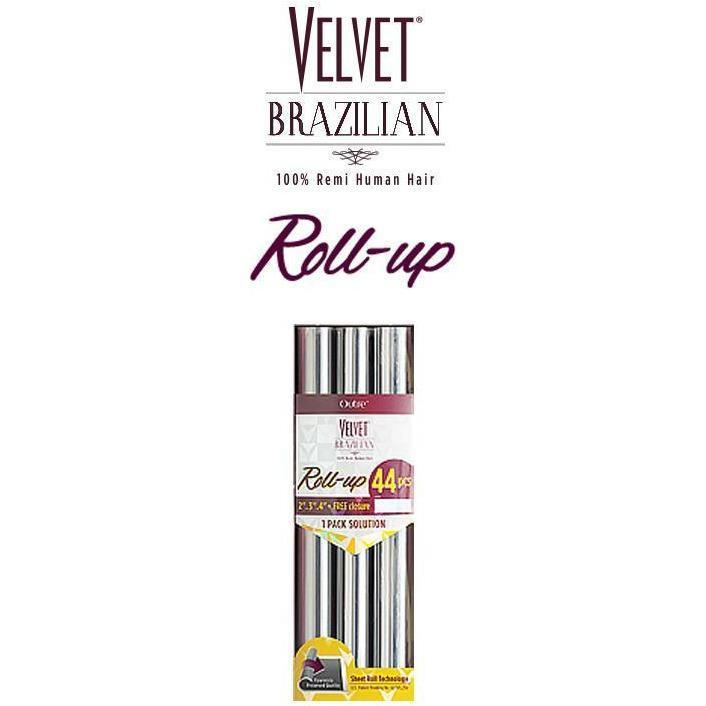 Outre Velvet Brazilian 100% Remi Human Hair Weave – Roll-Up 44 PCS