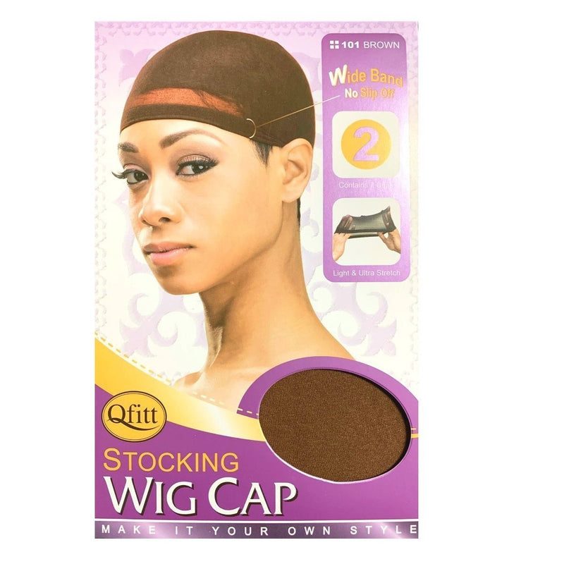 M&M Headgear Qfitt Stocking Wig Cap Brown