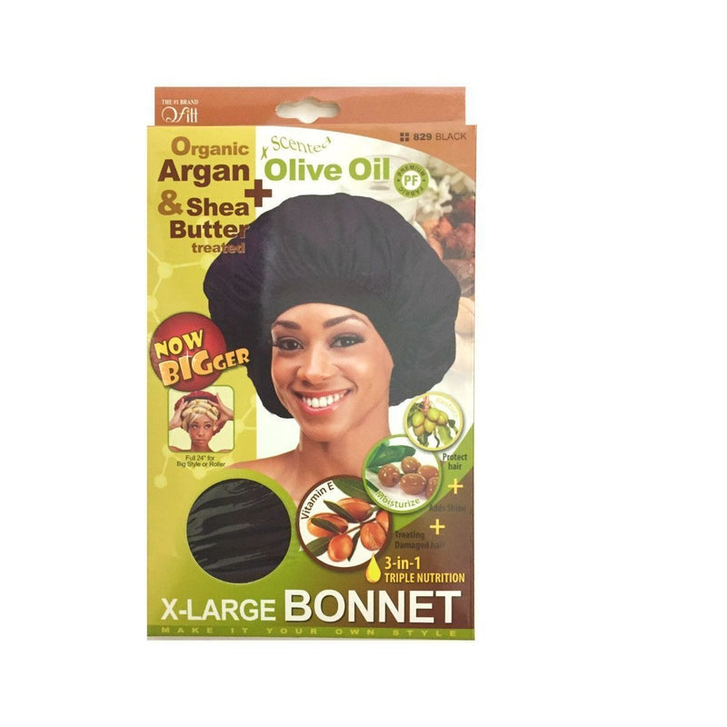 M&M Headgear Qfitt X-Large Bonnet w/ Argan, Olive Oil & Shea Butter
