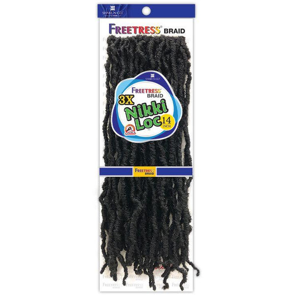 FreeTress Synthetic Crochet Braid - 3X Nikki Loc 14""