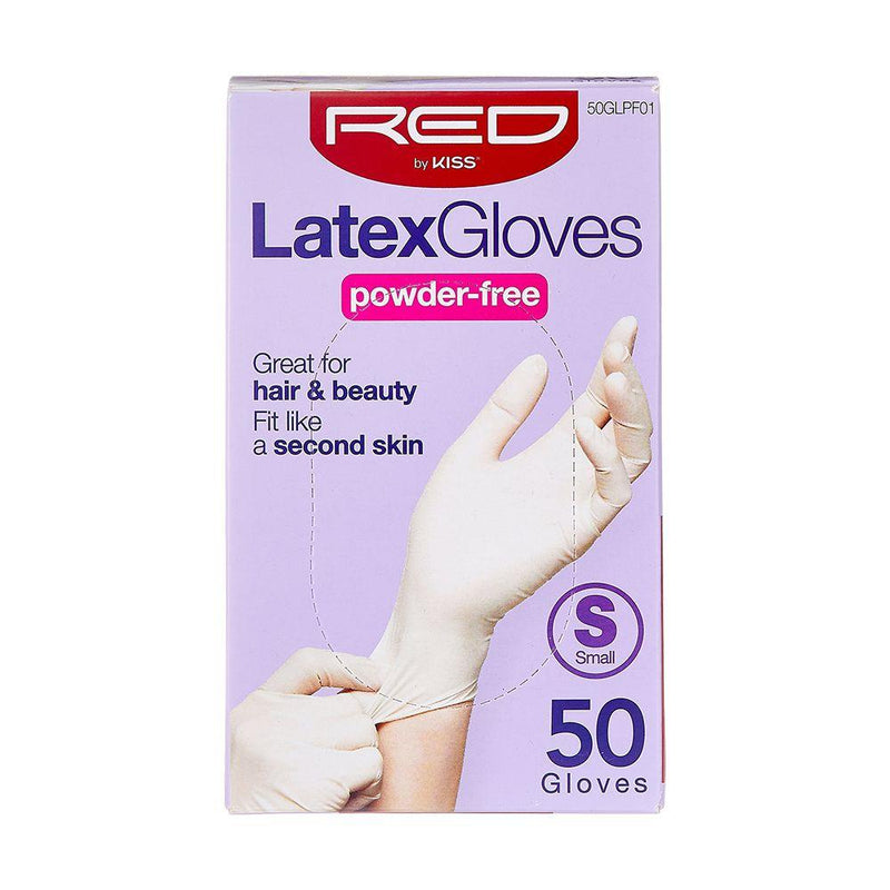 RED By Kiss Powder-Free Latex Gloves - Small 50CT