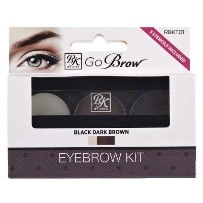 Ruby Kisses Go Brow Eyebrow Kit RBKT01 Black Dark Brown