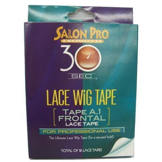 Salon Pro 30 Sec Lace Wig Tape A.1 Frontal 12pc