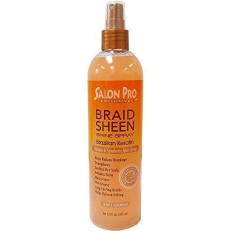 Salon Pro Braid Sheen Brazilian Keratin Spray 12 OZ
