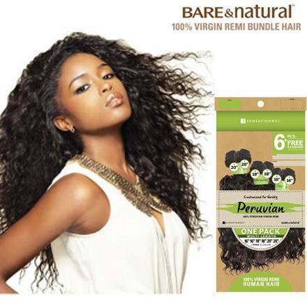 Sensationnel Bare & Natural Peruvian Virgin Remi Weave – Bohemian 6 PCS