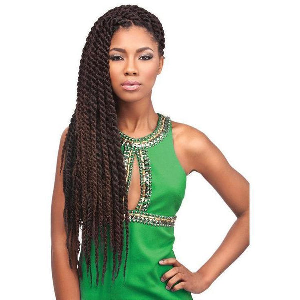 Sensationnel African Collection Synthetic Braids – 3X Pre-Stretched Jamaican Twist 36""