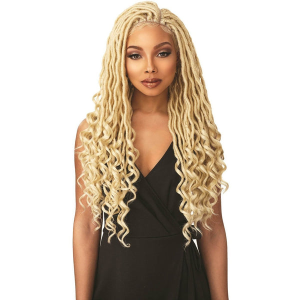 Sensationnel Cloud 9 Synthetic Hand-Tied Parting Braided Swiss Lace Wig – Goddess Locs