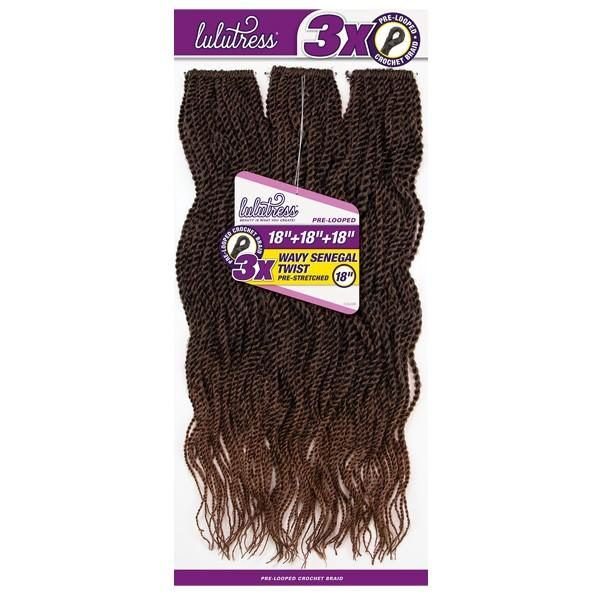 Sensationnel Lulutress Synthetic Braids – 3X Wavy Senegal Twist 18""