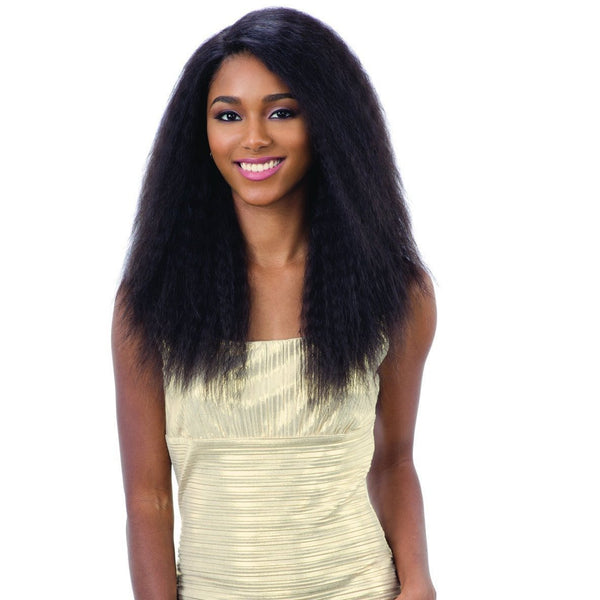 Shake-N-Go 100% Human Hair Naked Brazilian Natural Deep Invisible L-Part Lace Front Wig – Natural 201