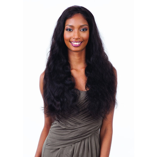 Shake-N-Go 100% Human Hair Naked Brazilian Natural Frontal Lace Wig – Natural 101 Body Wave 26""