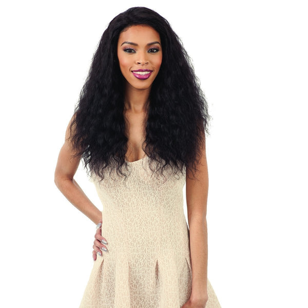 Shake-N-Go Naked Nature Wet & Wavy 100% Human Hair Lace Front Wig – Loose Deep