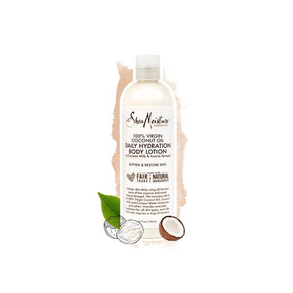 Shea Moisture 100% Virgin Coconut Oil Daily Hydration Body Lotion 13 OZ