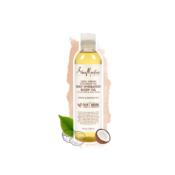 Shea Moisture 100% Virgin Coconut Oil Daily Hydration Body Oil 8 OZ