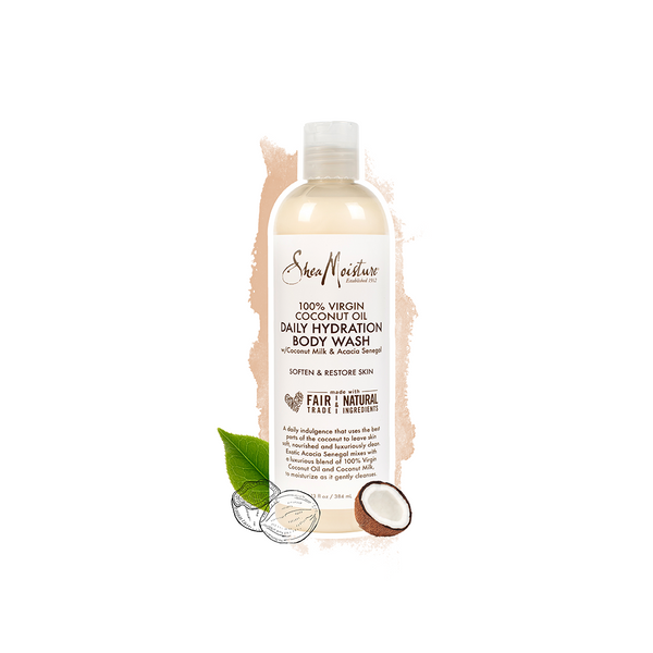 Shea Moisture 100% Virgin Coconut Oil Daily Hydration Body Wash 13 OZ