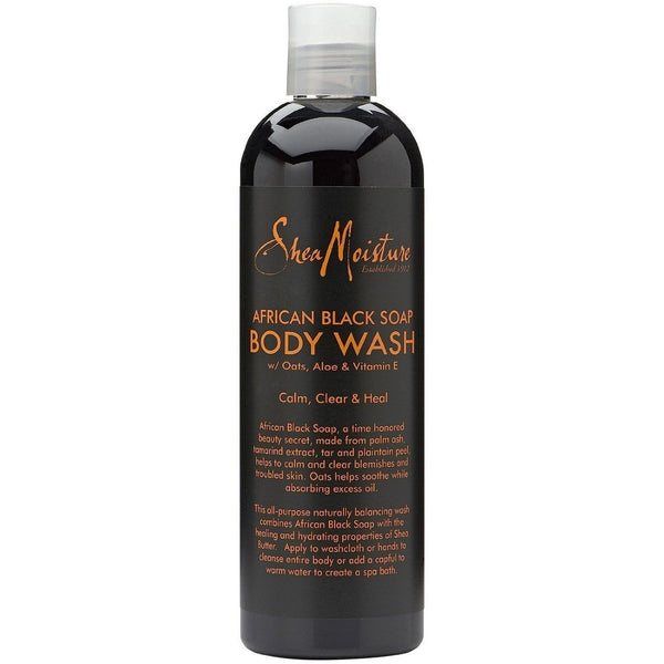 Shea Moisture African Black Soap Body Wash 13 oz