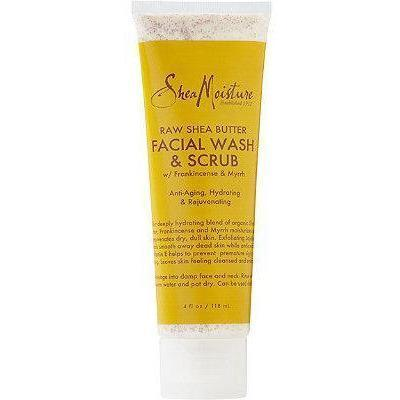 Shea Moisture Raw Shea Butter Facial Wash & Scrub 4 oz