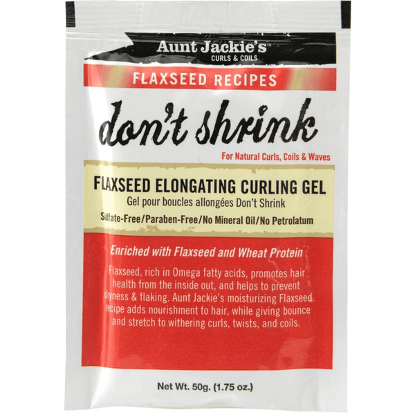 Aunt Jackie's Don't Shrink Flaxseed Elongating Curling Gel 1.75 OZ