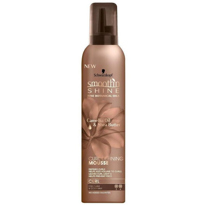 Smooth 'N Shine Camellia Oil & Shea Butter Curl Defining Mousse 9 OZ