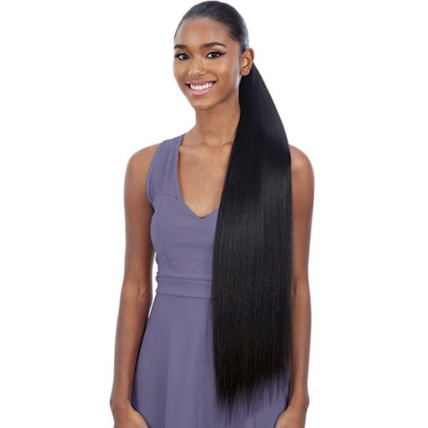 Shake-N-Go Organique MasterMix Wrap-Around Synthetic Ponytail – Yaky Straight 32""