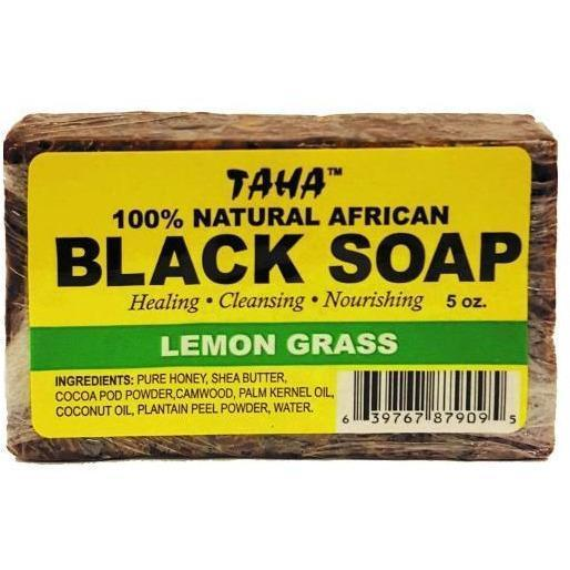 Taha 100% Natural African Black Soap Lemon Grass 5 OZ