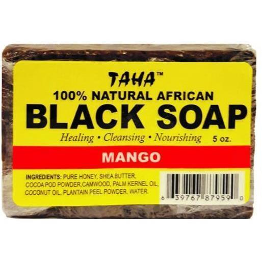 Taha 100% Natural African Black Soap Mango 5 OZ